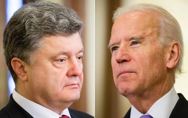 Порошенко розповів Байдену про ситуацію на Донбасі