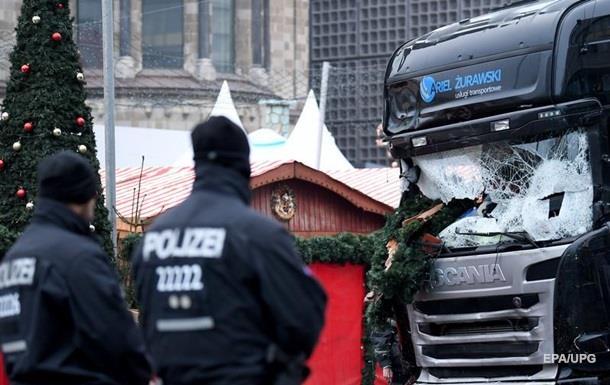 В Берлине грузовик въехал в толпу
