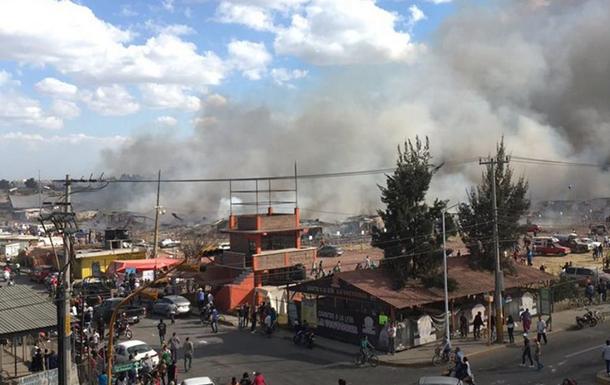 На рынке фейерверков в Мексике прогремел взрыв