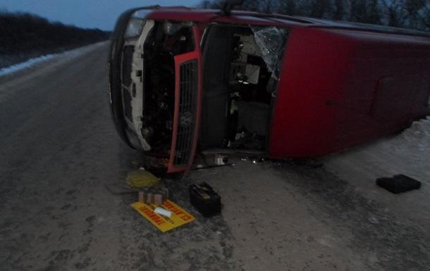 У Луганській області перекинувся автобус: п ятеро постраждалих