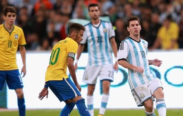 Збірні Бразилії та Аргентини можуть провести збори перед ЧС-2018 в Україні