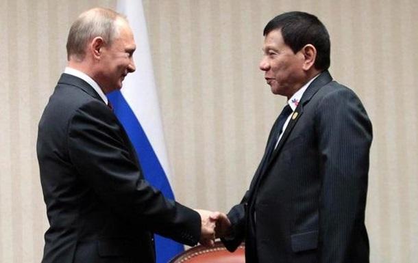Дутерте дозволив кораблям РФ швартуватися на Філіппінах