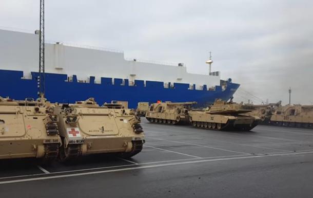 З явилося відео вивантаження танків США у Німеччині