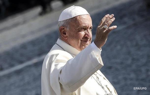 Папа Римський зробив заяву щодо Донбасу