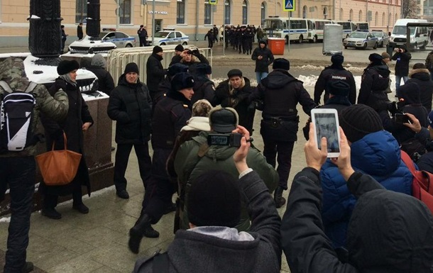 На акции протеста в Москве задержали 40 человек