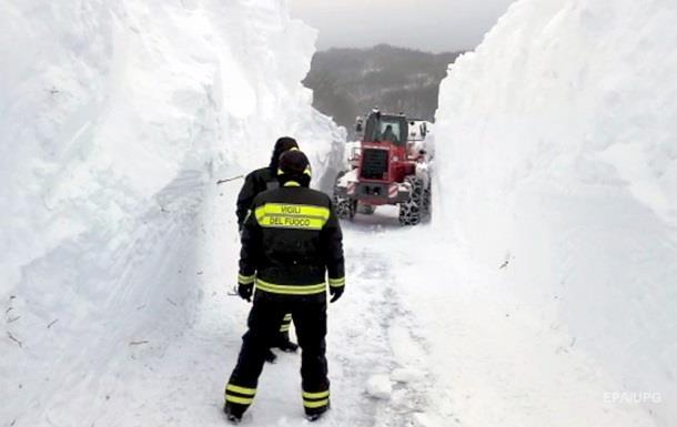 Зросла кількість жертв лавини в Італії