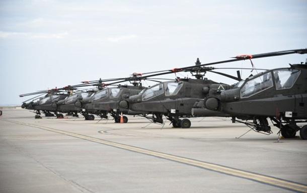 США перекинуть до Європи ударні вертольоти Apache