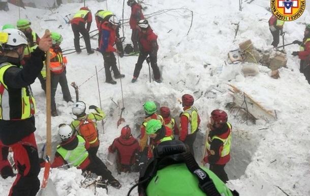 Сходження лавини в Італії: кількість жертв зросла до 27
