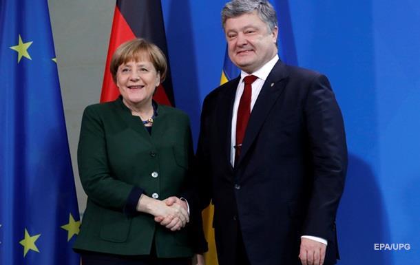 Порошенко и Меркель обсудили привлечение США к решению ситуации на Донбассе