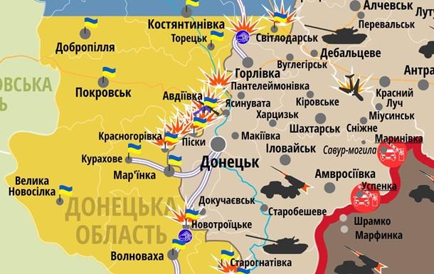 Карта АТО 31.01.2017