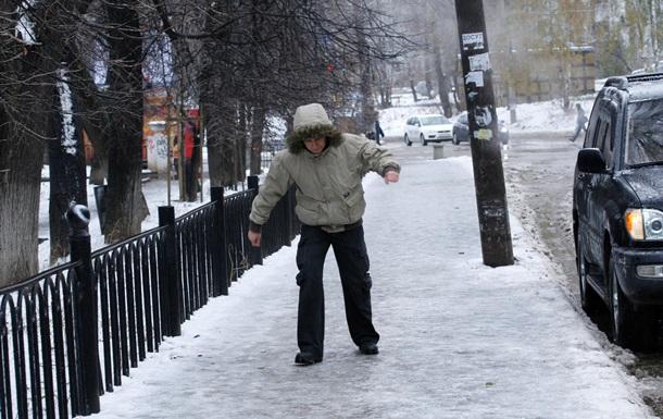 У Києві через ожеледицю постраждали півтори тисячі осіб