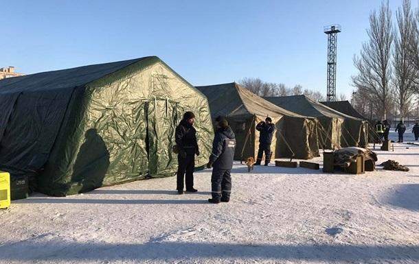 палаточный городок в авдеевке