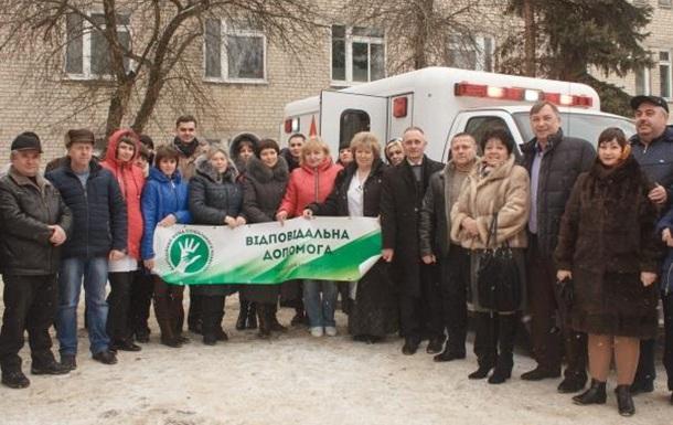 Барвінківській районній лікарні передано реанімобіль з Канади