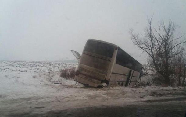 У Вінницькій області зіткнулися три автобуси і Ford