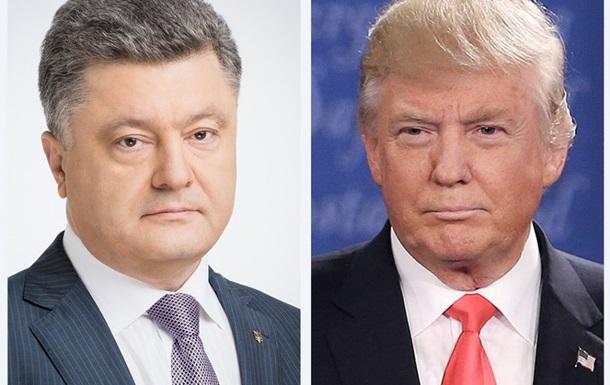 Порошенко і Трамп обговорили ситуацію на Донбасі