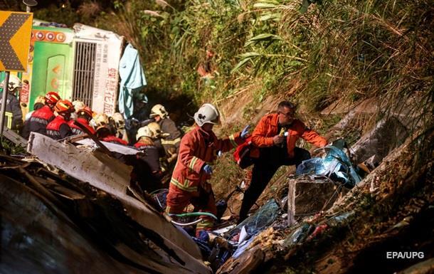 Выросло число жертв аварии с автобусом на Тайване