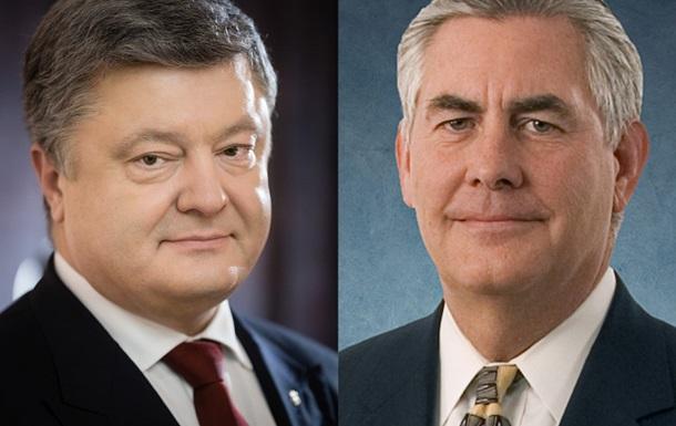 Порошенко розповів держсекретареві США про Донбас