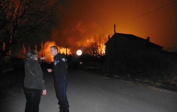 Во Франции взорвалось хранилище газовых баллонов
