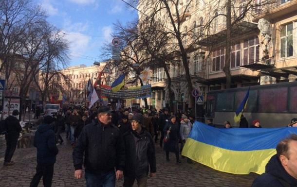На Майдані мітингують на підтримку блокади Донбасу