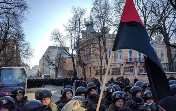На акціях у центрі Києва зіткнення з поліцією