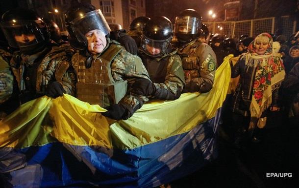 Під час сутичок у Києві постраждали троє поліцейських