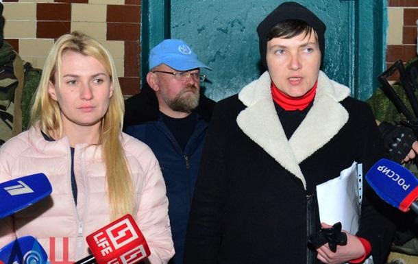 Савченко зустрілася з шістьма військовополоненими