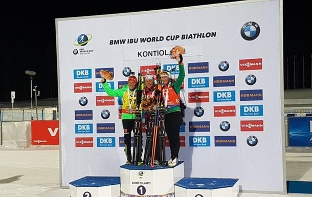 Біатлон: українки невдало виступили в спринті, Домрачева виграла бронзу