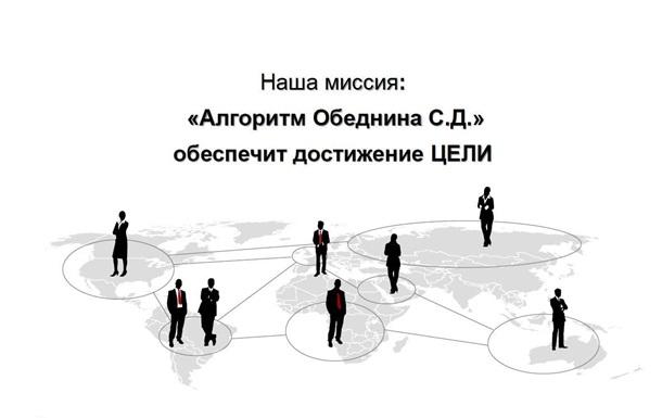 Рабочий проект предвыборной кампании по  Алгоритму Обеднина С.Д.