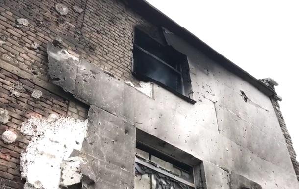 Наслідки обстрілу Авдіївки показали на відео