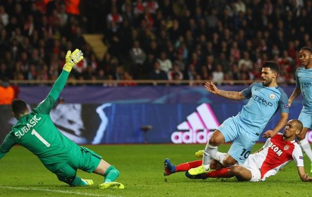 Монако - Манчестер Сіті 3:1 Відео голів та огляд матчу Ліги чемпіонів