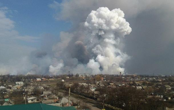 Площа пожежі на складах у Балаклії збільшилася