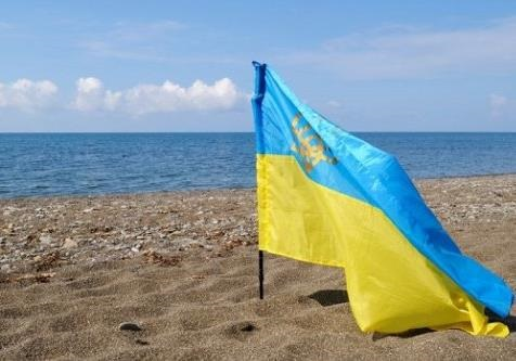 #КрымНеНаш-2, гимн Украины в Ялте