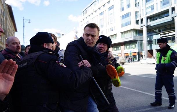 У Москві на мітингу затримали Навального
