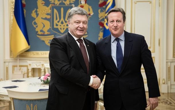 Порошенко обговорив з Кемероном санкції проти Росії