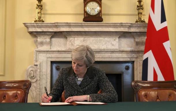 Мей підписала листа до ЄС про запуск Brexit