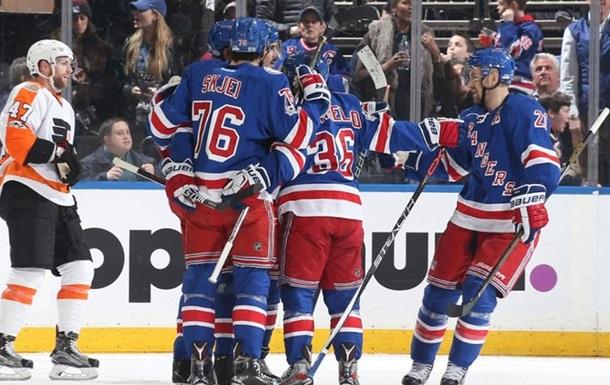 НХЛ: Рейнджерс обіграли Філадельфію, перемоги Піттсбурга і Анахайма