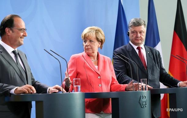 Порошенко подякував Меркель і Олланду за безвіз