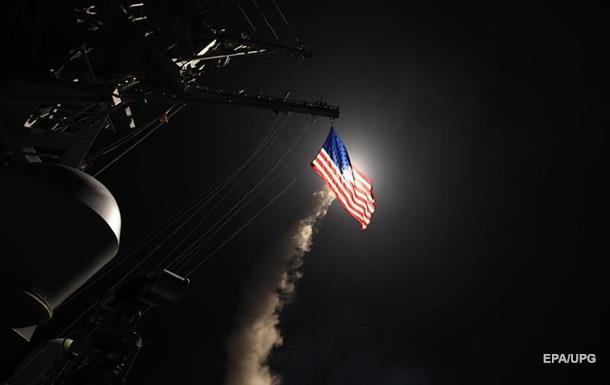 Опубліковане відео ракетного удару по базі в Сирії
