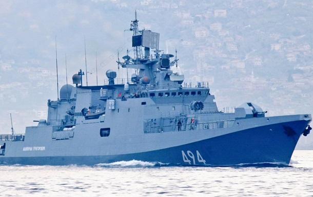 Росія перекинула фрегат у Середземне море