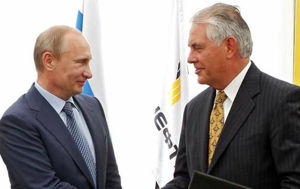 Кремль: Зустрічі Тіллерсона і Путіна не буде