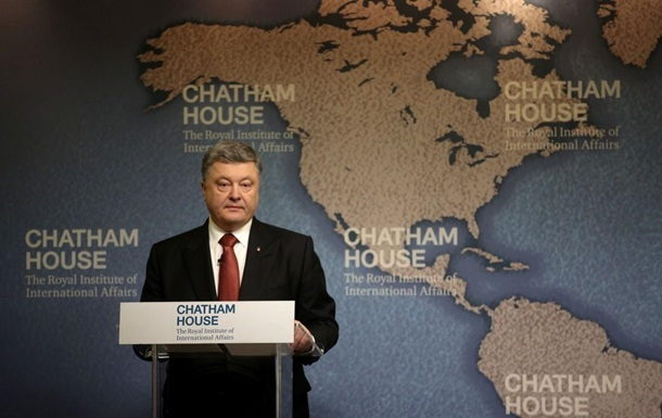Порошенко в Британии: Россия - ненасытный крокодил