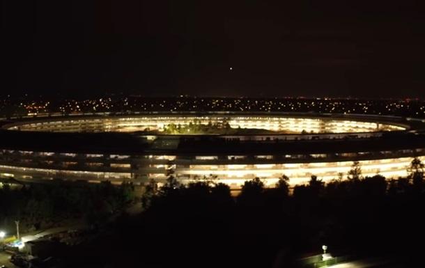 У Мережі показали аеровідеозйомку з кампусом Apple