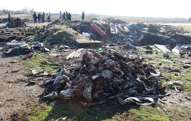 В Крыму под двери чиновников вывалили кучи мусора
