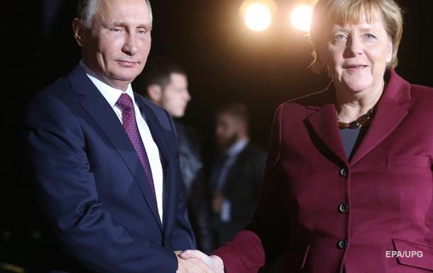 Путін і Меркель обговорять ситуацію на Донбасі