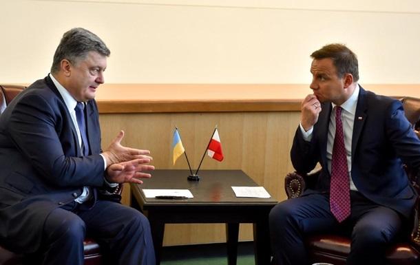Порошенко і Дуда обговорили знесення пам ятника УПА