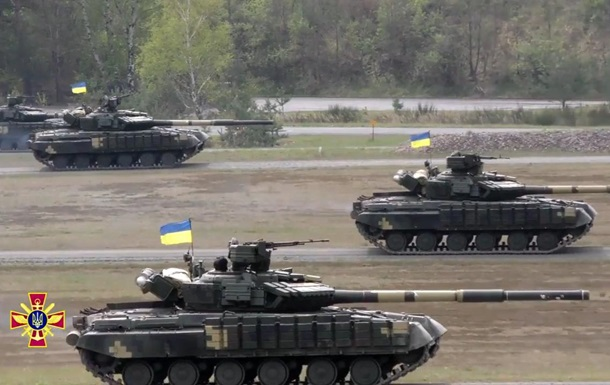 Появилось видео украинцев в танковом биатлоне НАТО