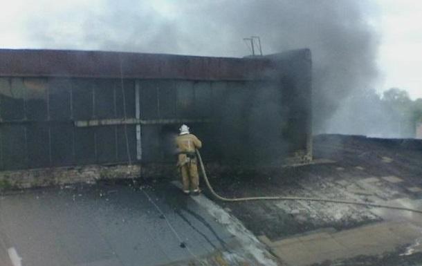 У Харкові сталася пожежа на підприємстві з переробки гуми