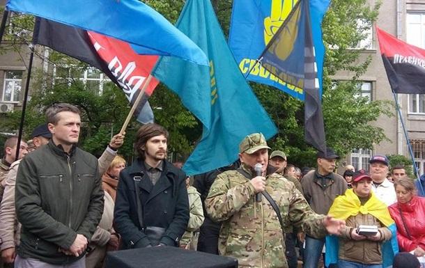 У Києві під будівлею МВС вимагають відставки Авакова