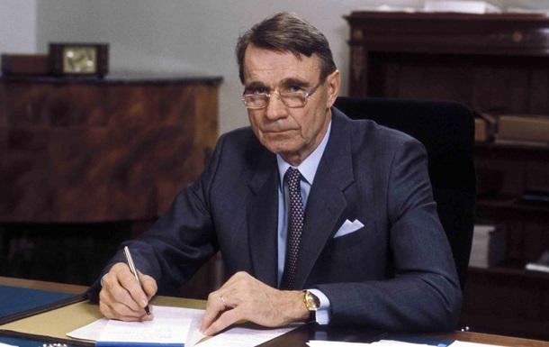 Помер колишній президент Фінляндії Койвісто