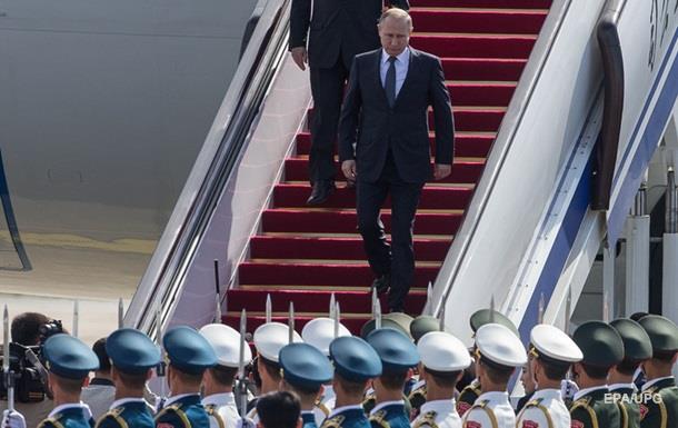 Путін прибув з візитом до Китаю